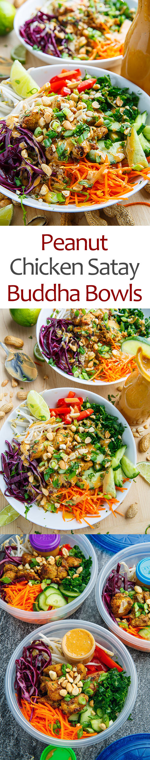 Thai Peanut Chicken Buddha Bowls - Meal Prep