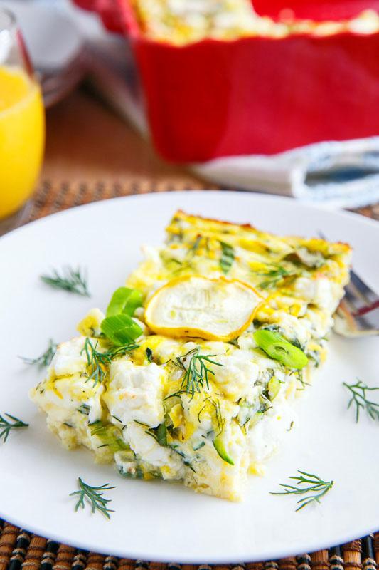 Zucchini and Feta Breakfast Casserole