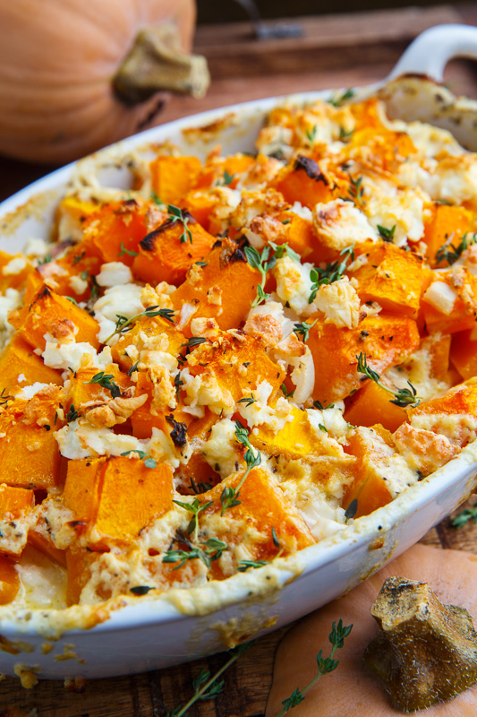 Butternut Squash and Feta Gratin