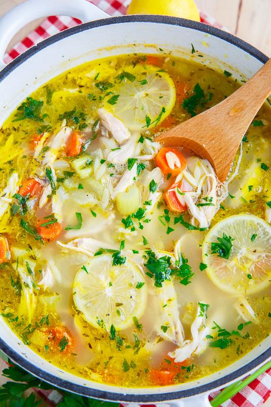 Lemon Chicken Orzo Soup