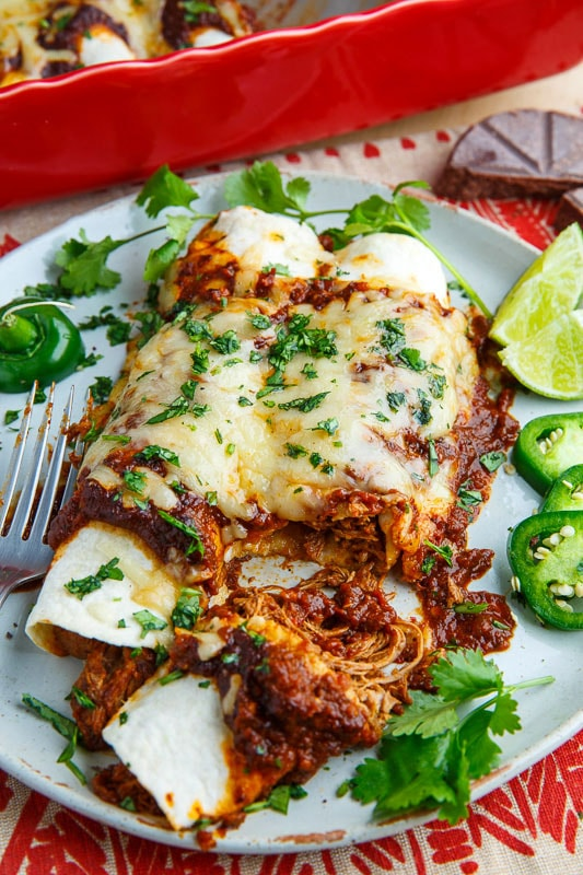 Mexican Shredded Beef Enchiladas