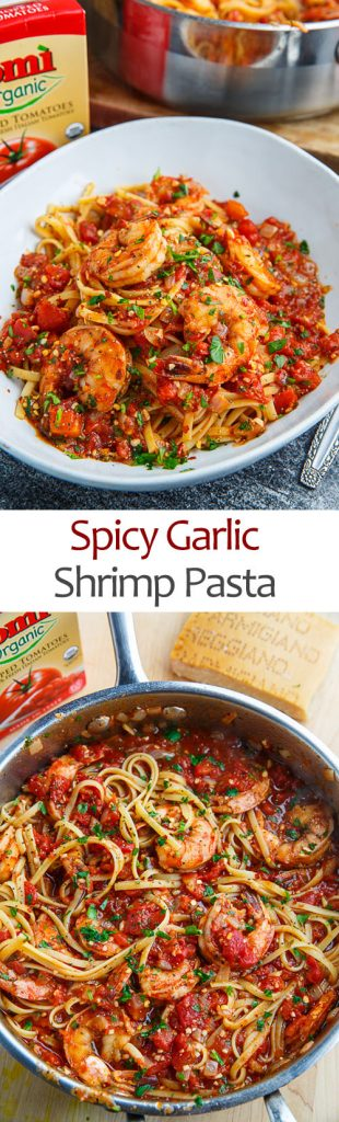 Spicy Garlic Shrimp Pasta