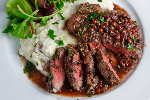 Steak Tenderloin in a Pink Peppercorn Sauce