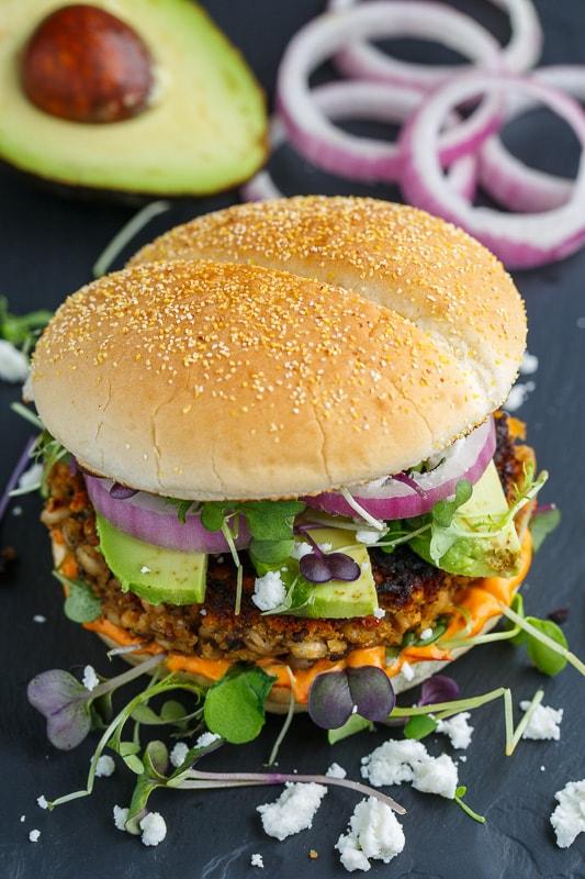 Mushroom and Eggplant Veggie Burgers