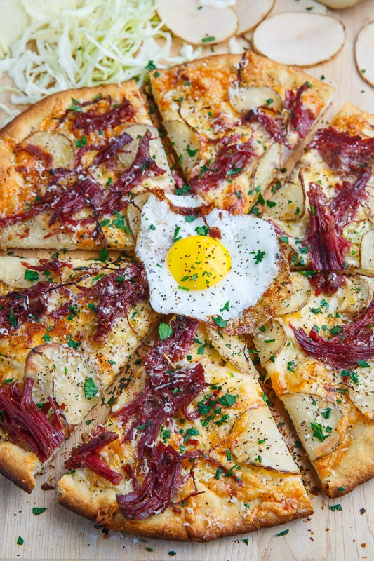 Corned Beef and Cabbage Pizza