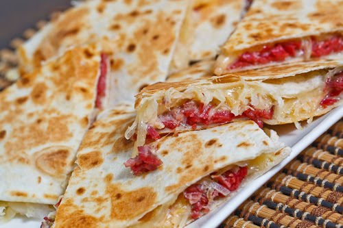 Reuben Quesadillas