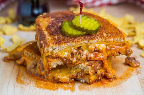 Sloppy Joe Grilled Cheese Sandwich
