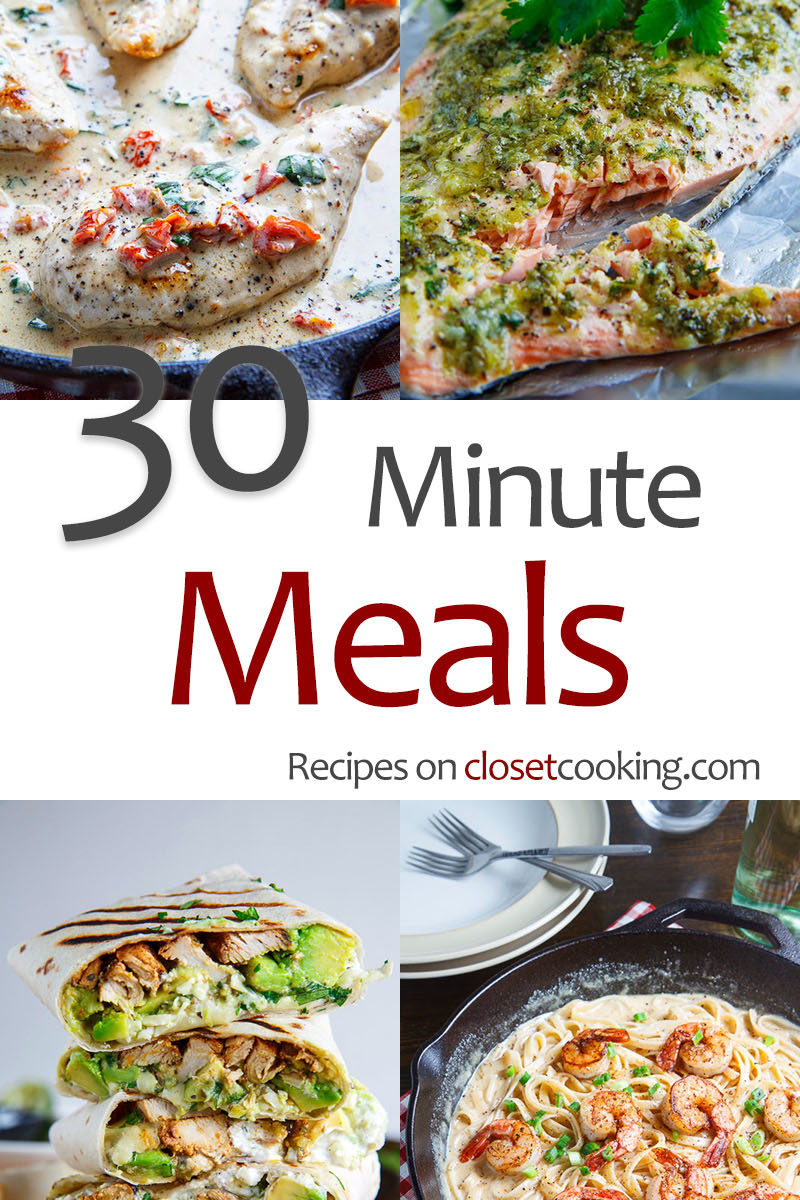 30 Minute Meal Recipes