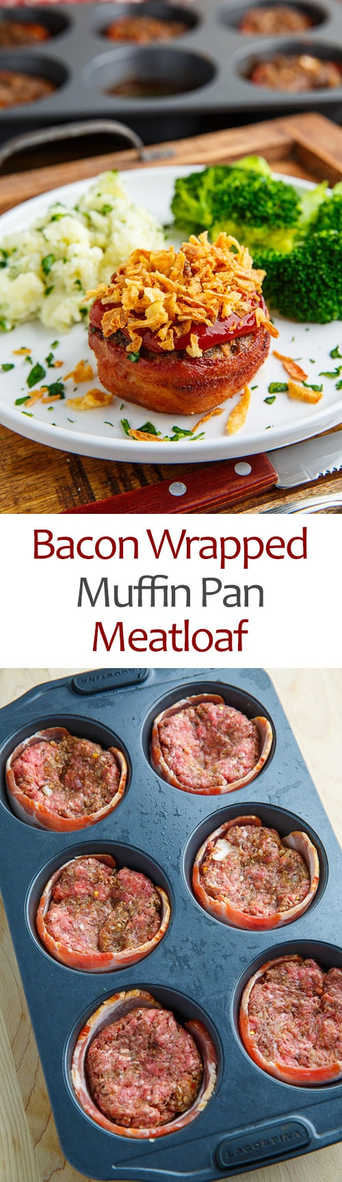 Bacon Wrapped Muffin Pan Meatloaf