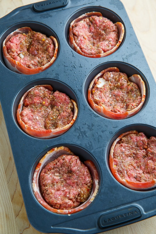 Bacon Wrapped Muffin Pan Meatloaf (aka Salisbury Steak Filet Mignon)
