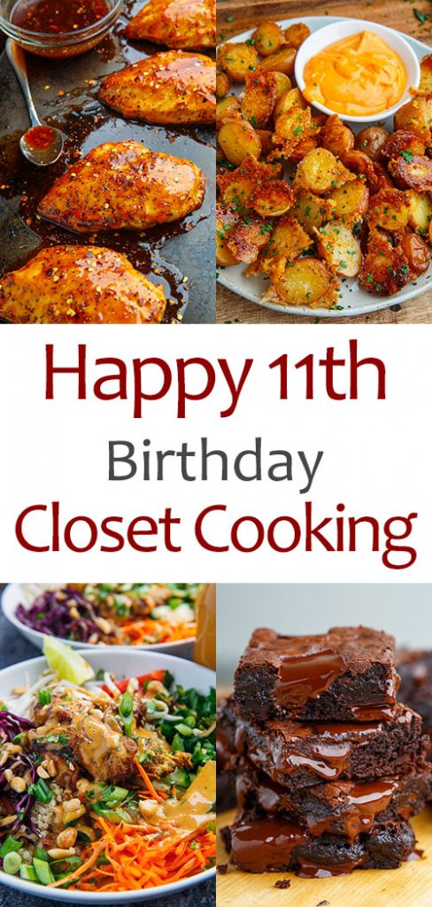 Happy 11th Birthday Closet Cooking on Closet Cooking