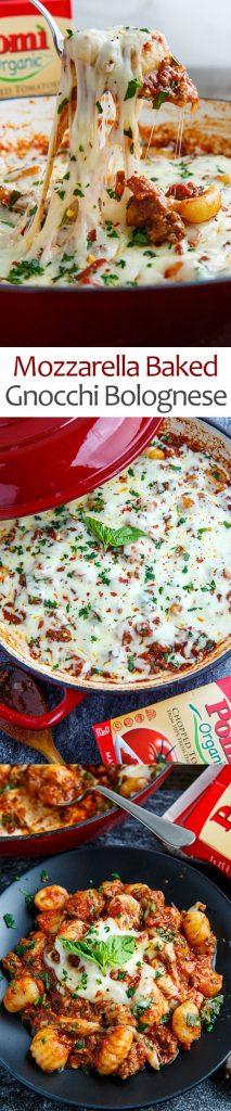 Mozzarella Baked Gnocchi Bolognese
