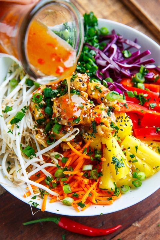 Thai Sweet Chili Chicken Buddha Bowls