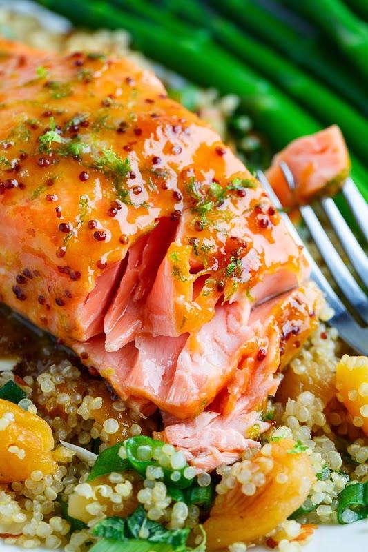 Apricot Dijon Glazed Salmon