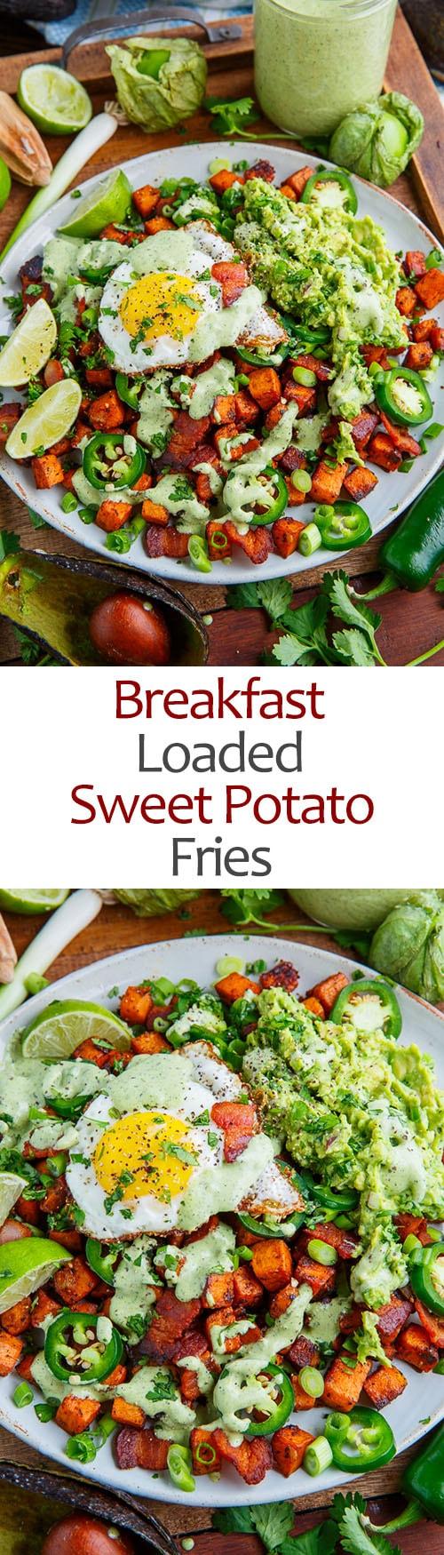 Breakfast Loaded Sweet Potato Fries