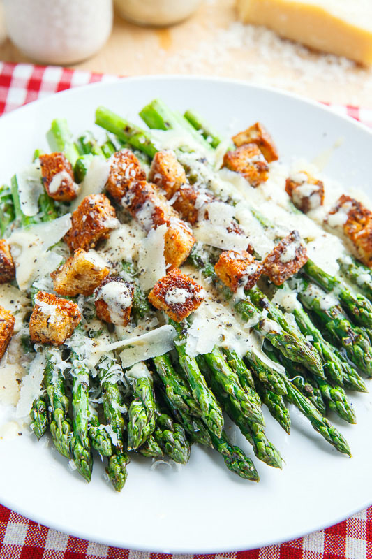 Caesar Grilled Asparagus Recipe