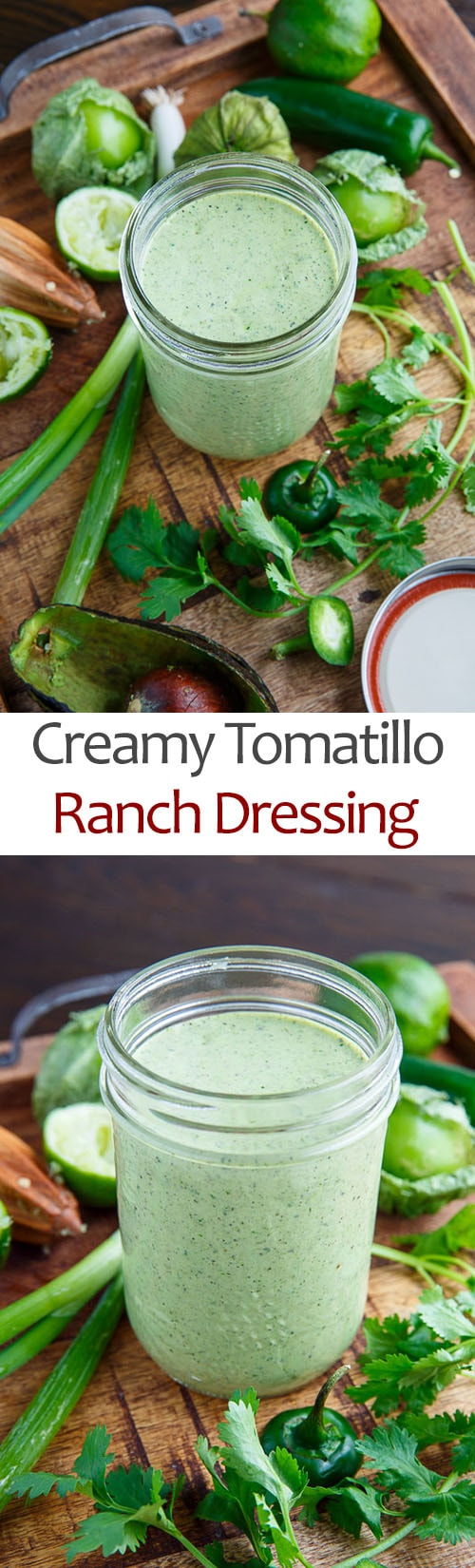 Creamy Tomatillo Ranch Dressing
