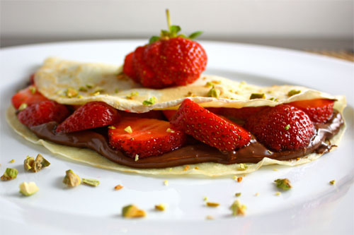 Strawberry and Nutella Crepes Recipe