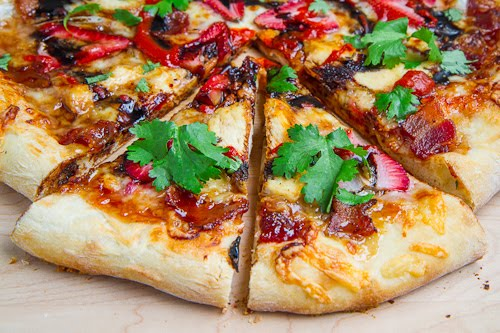 Balsamic Strawberry and Chicken Pizza with Sweet Onions and Smoked Bacon Recipe