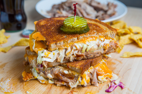 BBQ Pulled Pork Grilled Cheese