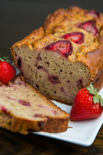 Strawberry Greek Yogurt Banana Bread