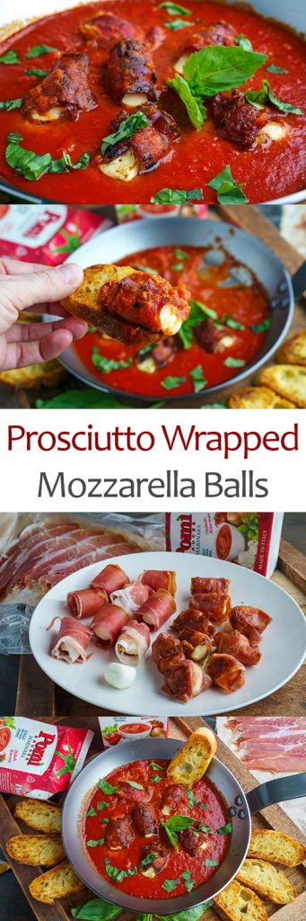 Prosciutto Wrapped Mozzarella Balls