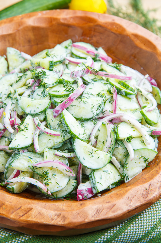 Creamy Dilled Cucumber Salad