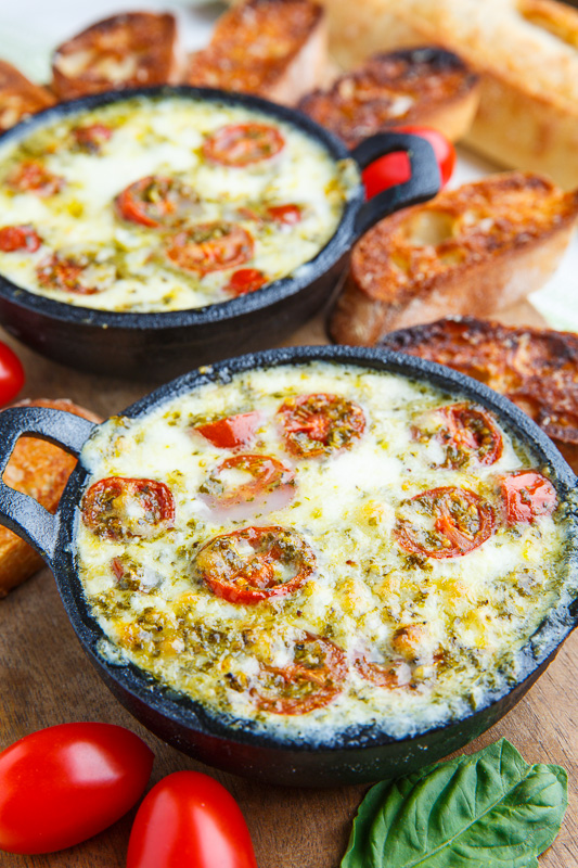 Hot Melted Caprese Dip