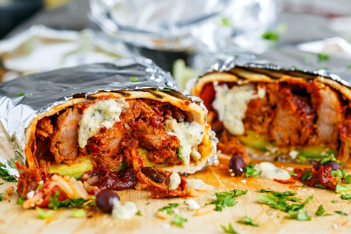 Pork Adobo Burritos