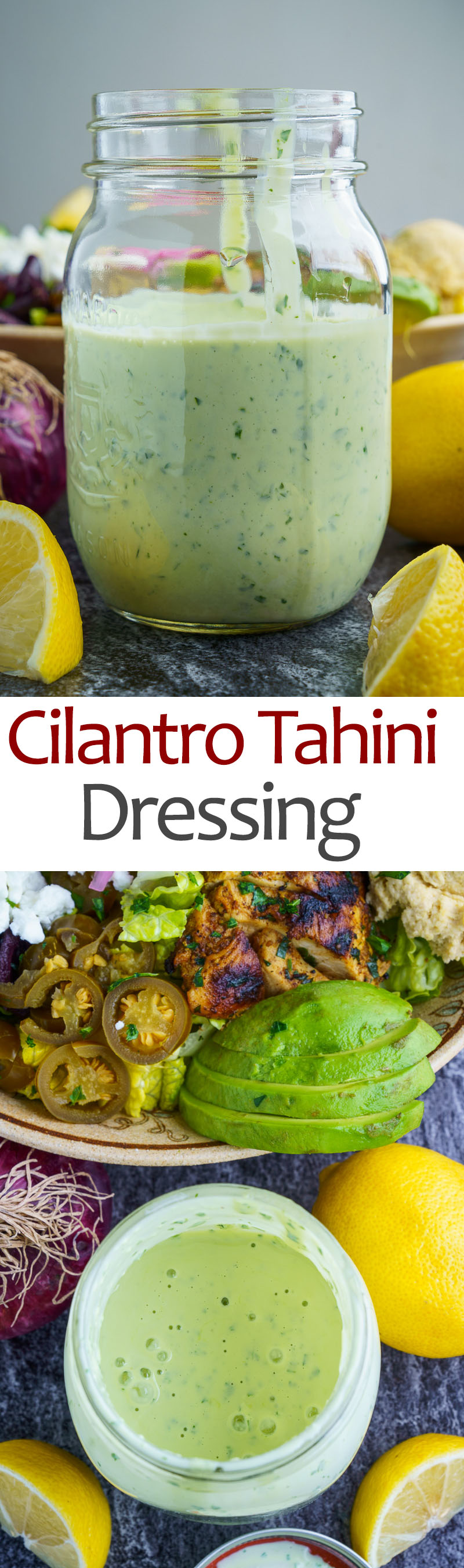 Cilantro Lemon Tahini Dressing