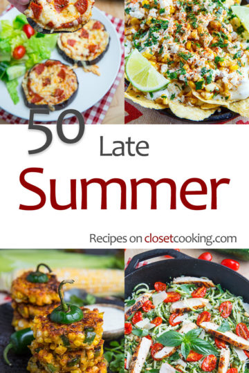 50 Late Summer Recipes