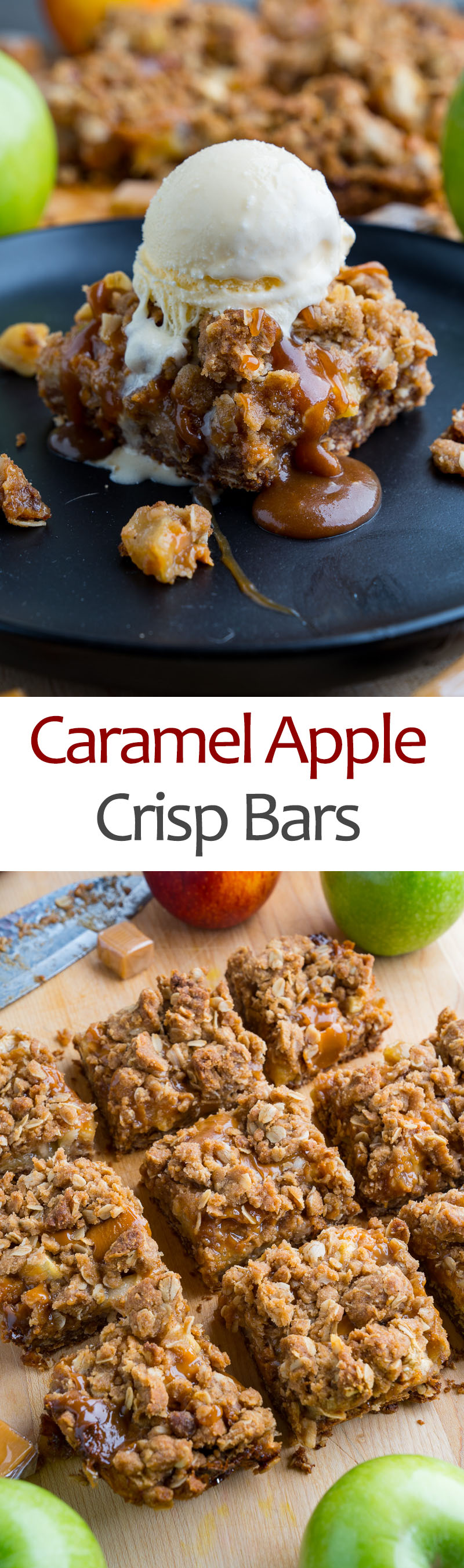 Caramel Apple Crisp Bars