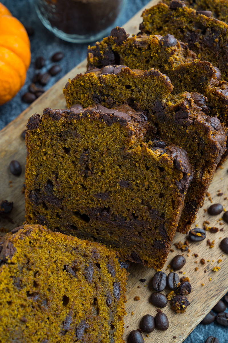 Chocolate Chip Pumpkin Spice Latte Bread
