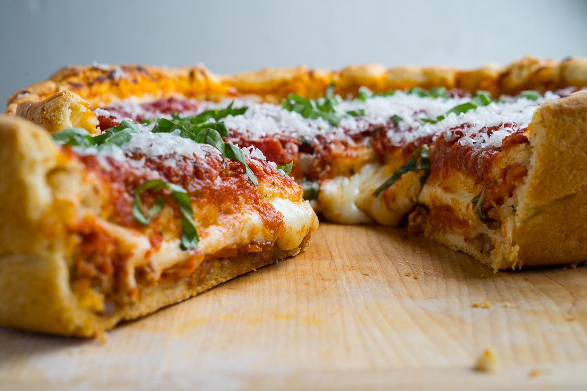 how to make deep dish pizza crust
