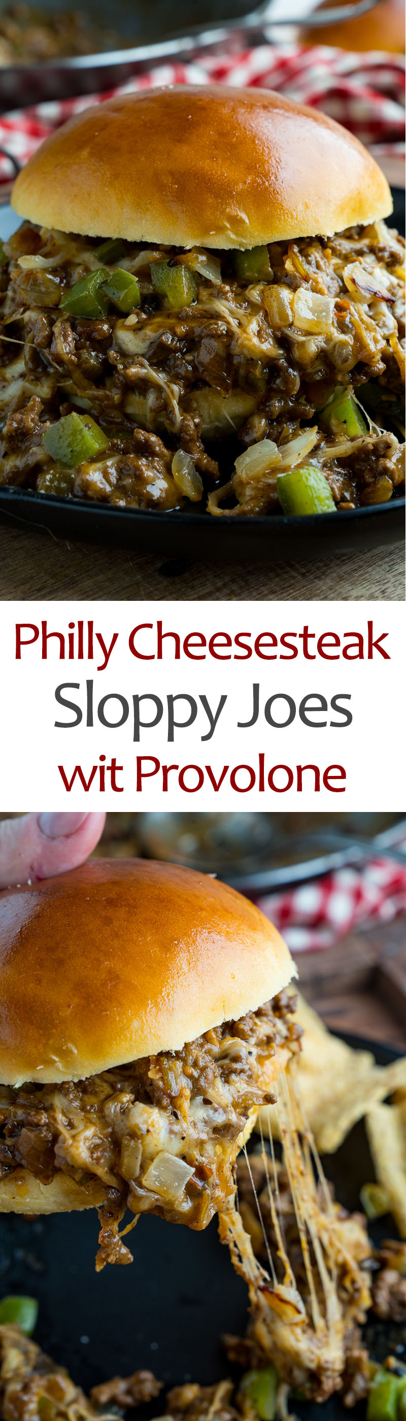 Philly Cheesesteak Sloppy Joes wit Provolone