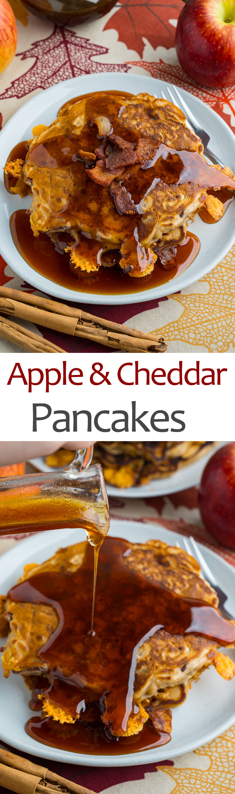 Apple and Cheddar Pancakes