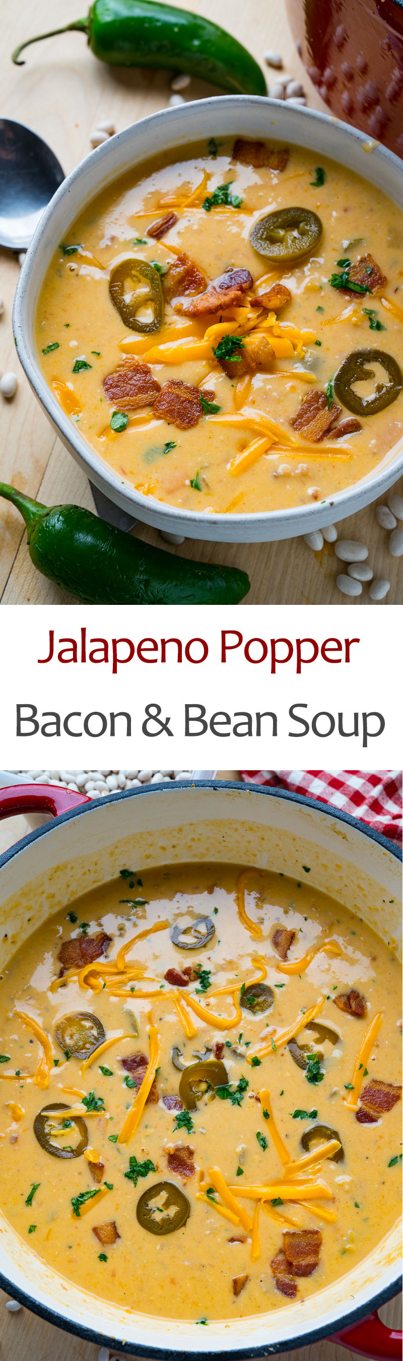 Jalapeno Popper Bacon and Bean Soup