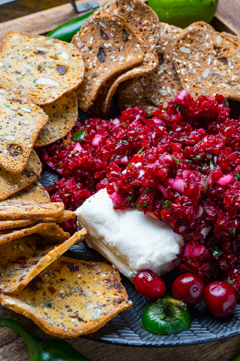 Cranberry Salsa with Cream Cheese