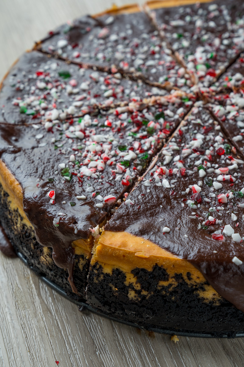 Peppermint Chocolate Cheesecake