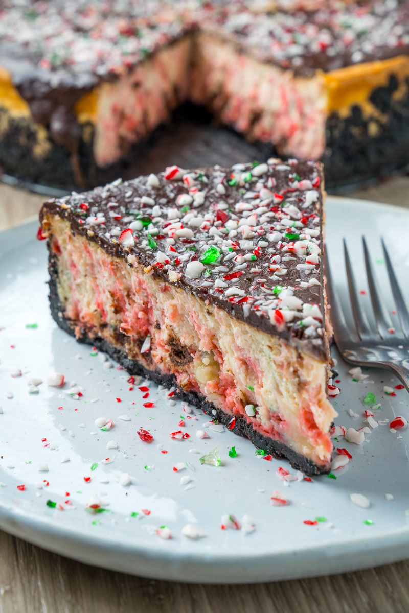 Peppermint Dark Chocolate Cheesecake