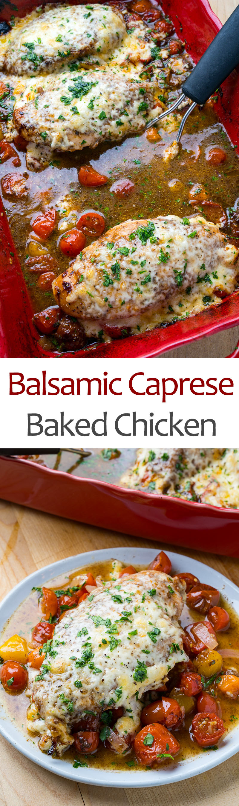 Balsamic Caprese Baked Chicken
