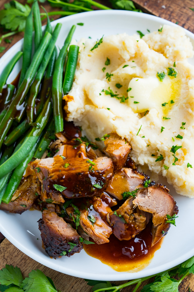 Slow Cooker Parmesan and Honey Pork Tenderloin