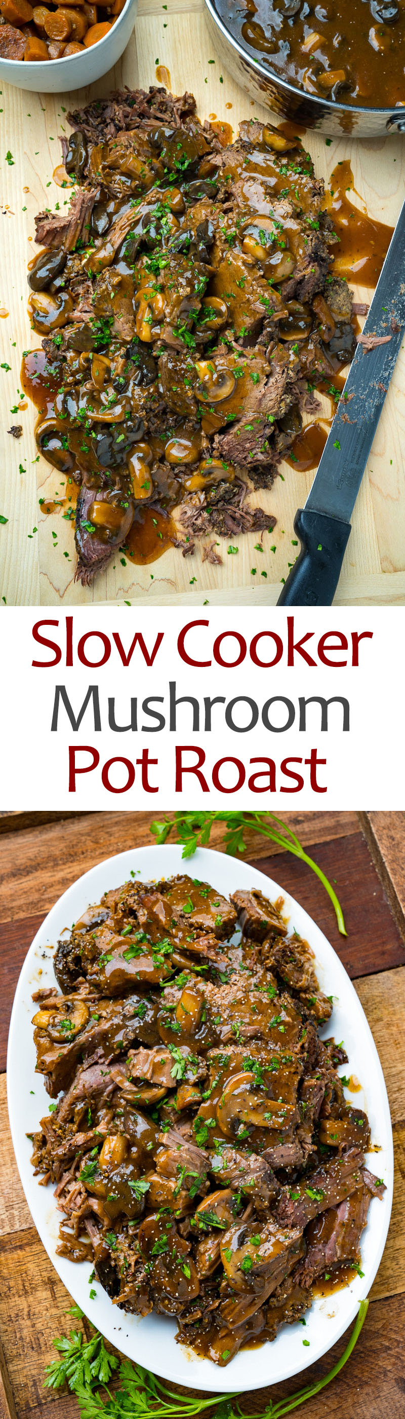 Slow Cooker Mushroom Pot Roast