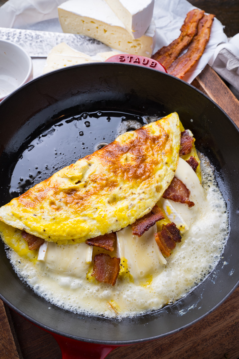Bacon and Brie Omelette