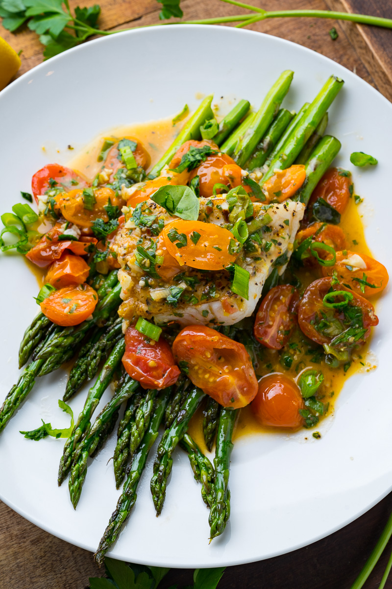Cod in a Tomato Lemon Butter Sauce
