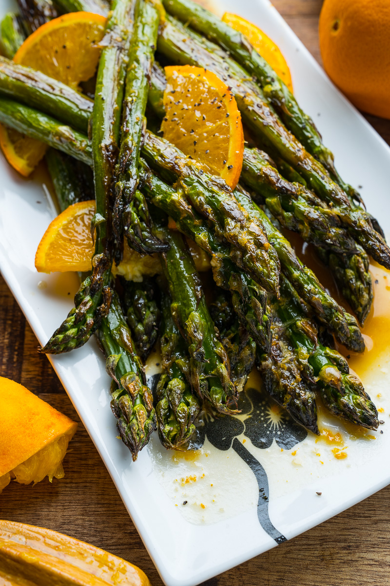 Orange Sesame Roast Asparagus