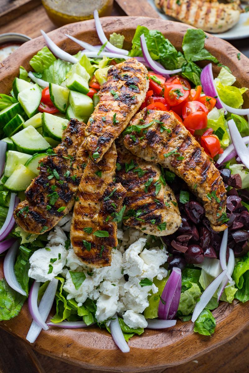 Greek Style Grilled Chicken Salad