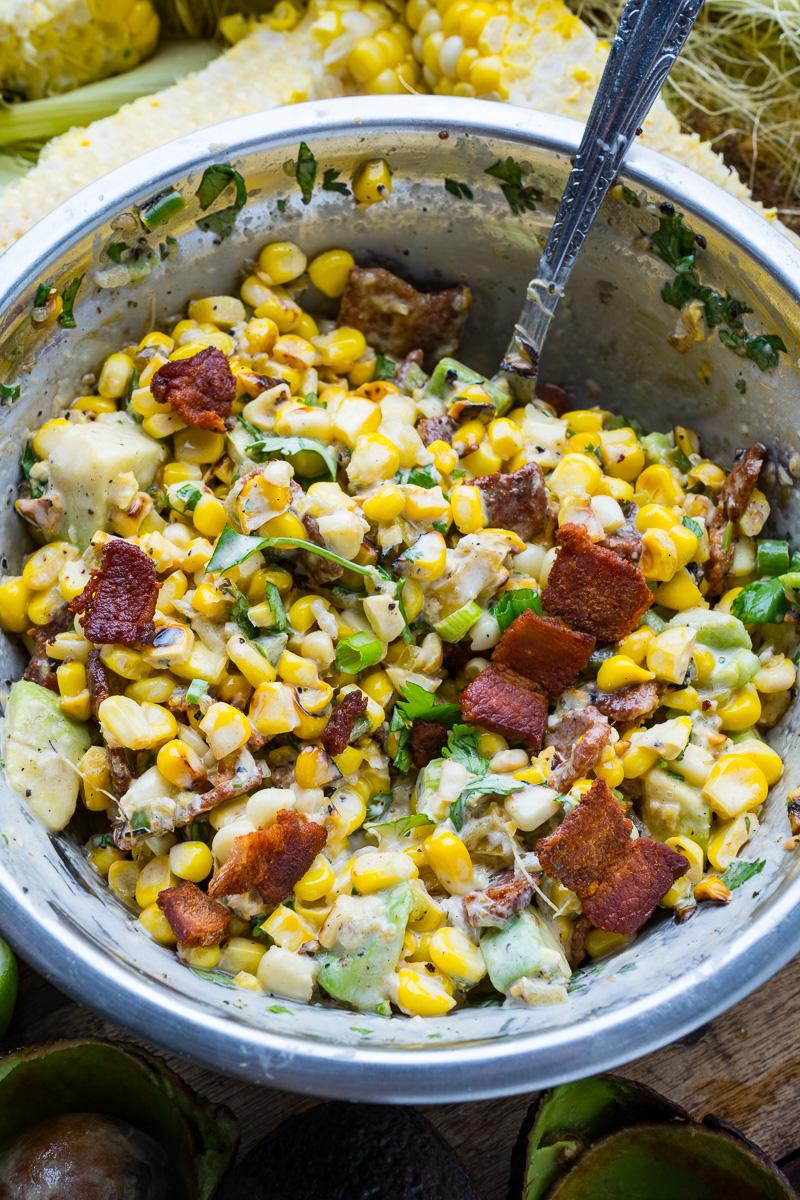 Creamy Bacon and Avocado Corn Salad