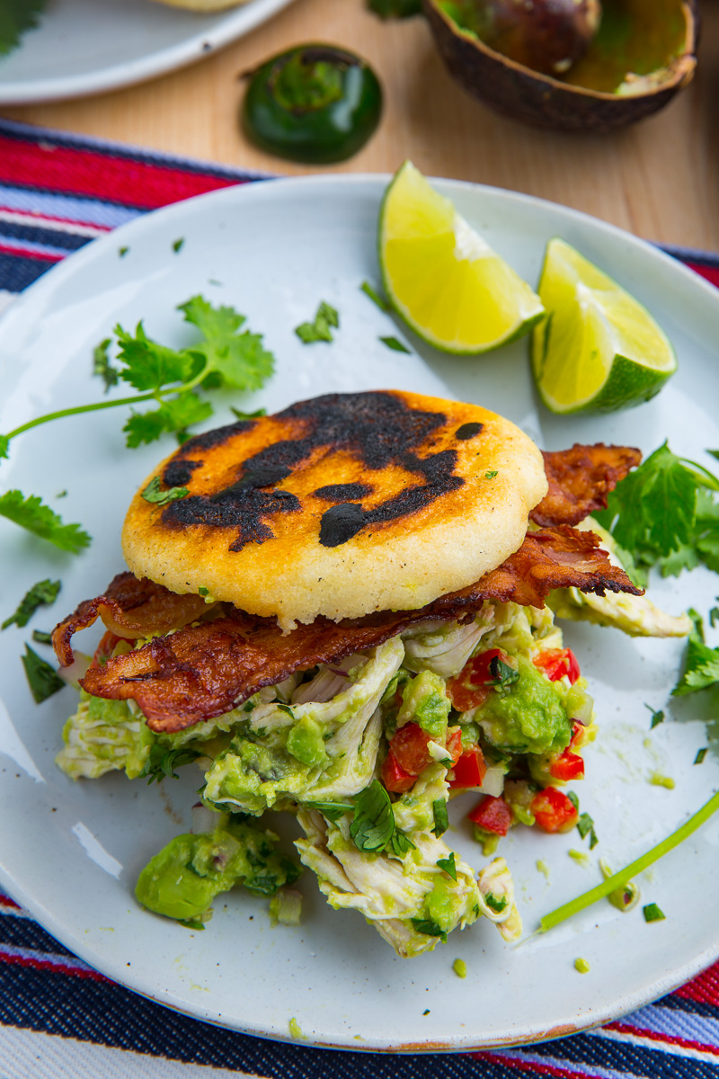 Reina Pepiada Arepa (Chicken and Avocado Sandwich)