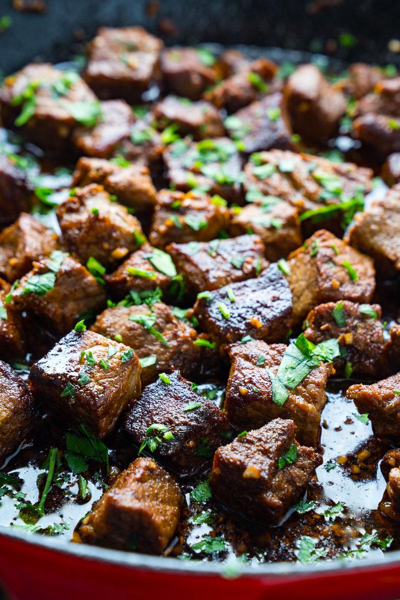 Cajun Garlic Butter Steak Bites